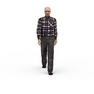 欧美老人3d模型3d模型