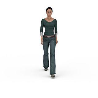 欧美女人3d模型3d模型
