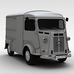 灰色卡车3D模型3d模型