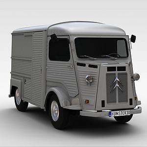 3d灰色<font class='myIsRed'>卡車</font>模型