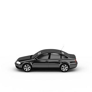 灰色小轿车3d模型3d模型