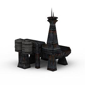 3d游戏建筑场景模型