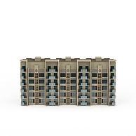 居民楼建筑配楼3D模型3d模型