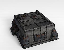 3d游戏建筑场景仓库模型