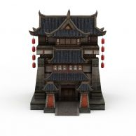 古代元素建筑客栈3D模型3d模型