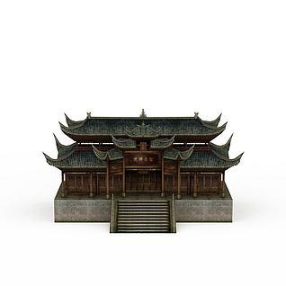 古代建筑楼阁3d模型