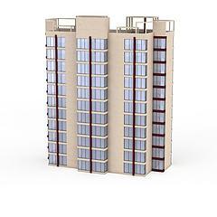 住宅楼高层建筑模型3d模型