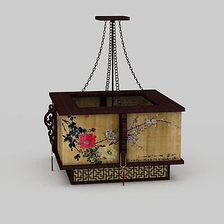 中式复古吊灯3d模型