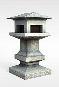 古建园林装饰模型3d模型