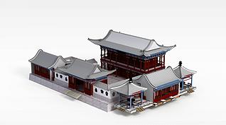 3d古建筑楼阁模型