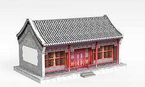 古代元素建筑模型3d模型
