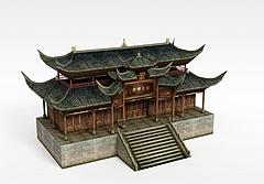 古代建筑楼阁模型3d模型
