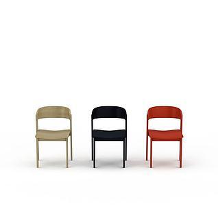 现代简约实木椅子3d模型3d模型