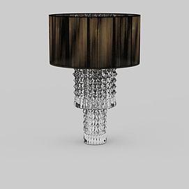 客厅水晶吸顶灯3d模型