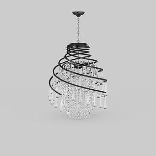 现代时尚水晶吊灯3d模型3d模型