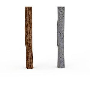 3d園林小品樹干模型
