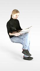 年轻女人模型3d模型