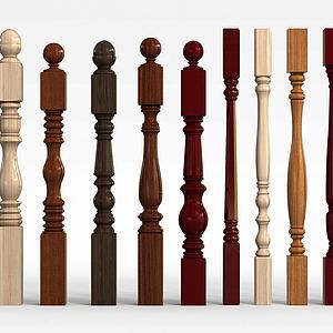 室内楼梯柱模型