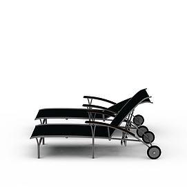 3d折叠床模型