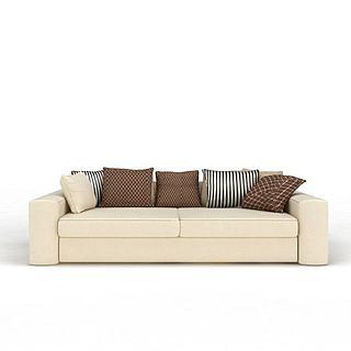 现代双人沙发3d模型