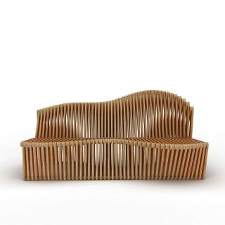 艺术长椅3d模型