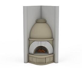 罗马风格壁炉3d模型