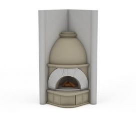 3d罗马风格壁炉模型