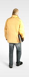 3d老年人模型