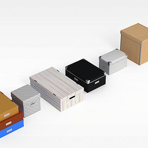 3d纸<font class='myIsRed'>盒子</font>鞋盒模型