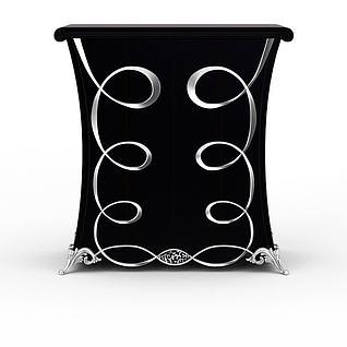欧式雕花边柜3d模型3d模型