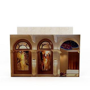 欧式风格建筑3d模型3d模型