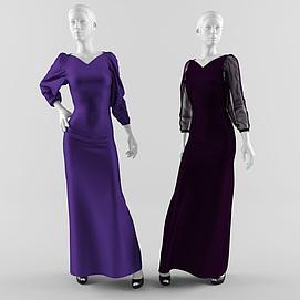 3d女服装<font class='myIsRed'>模特</font>模型
