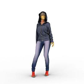 3d女装<font class='myIsRed'>模特</font>模型