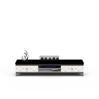 欧式黑白拼色电视柜3d模型3d模型