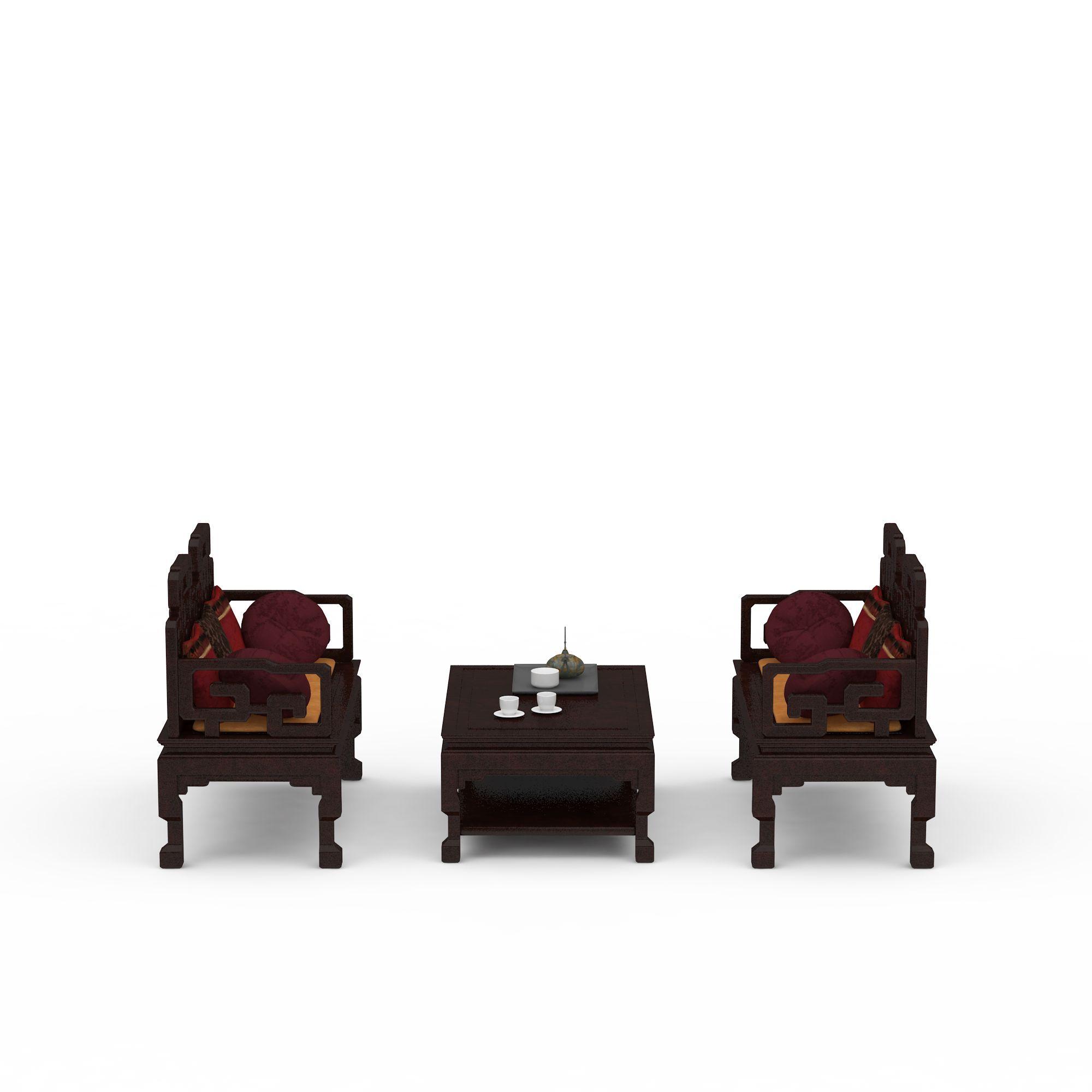 中式组合沙发高清图下载图片