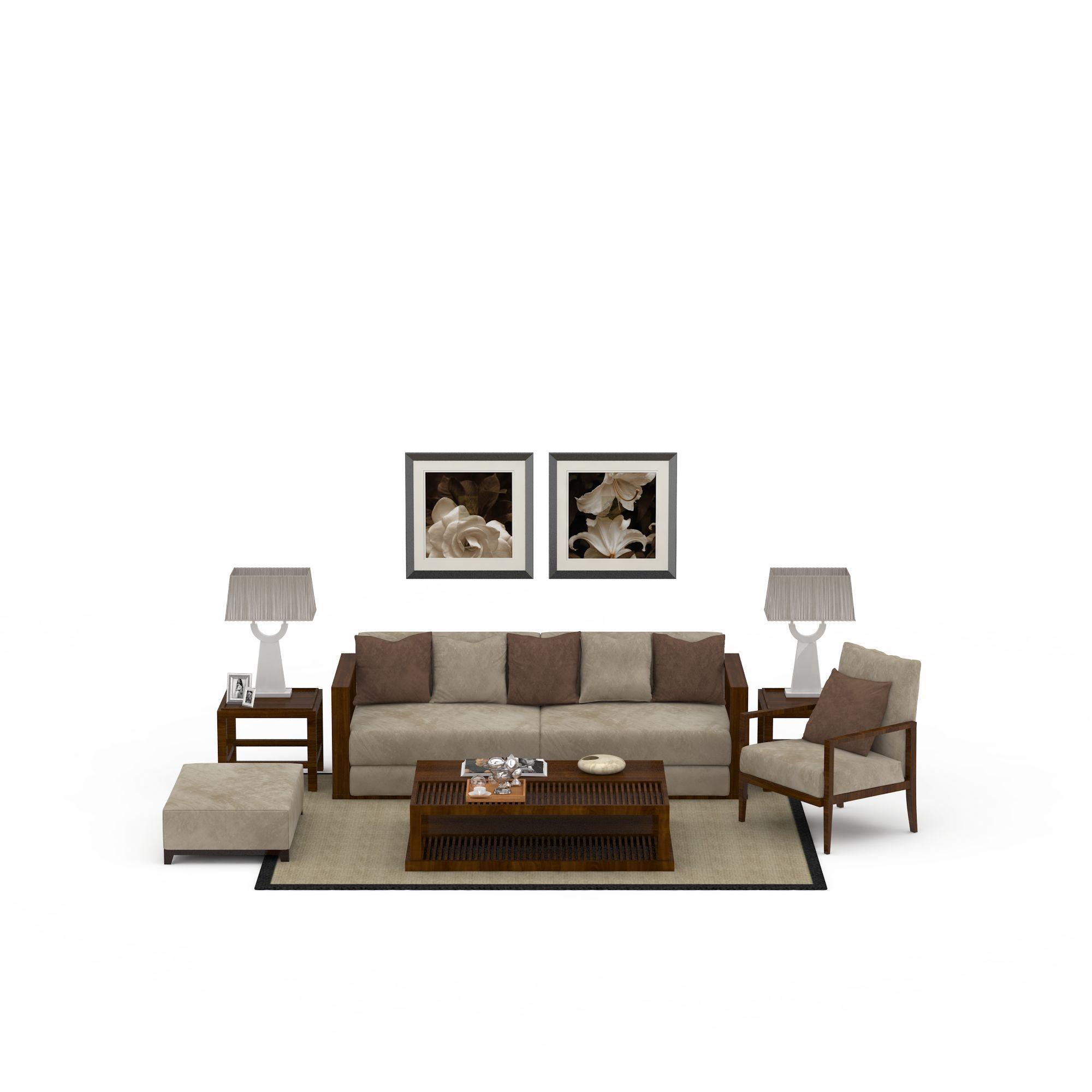 中式风格沙发组合高清图下载图片