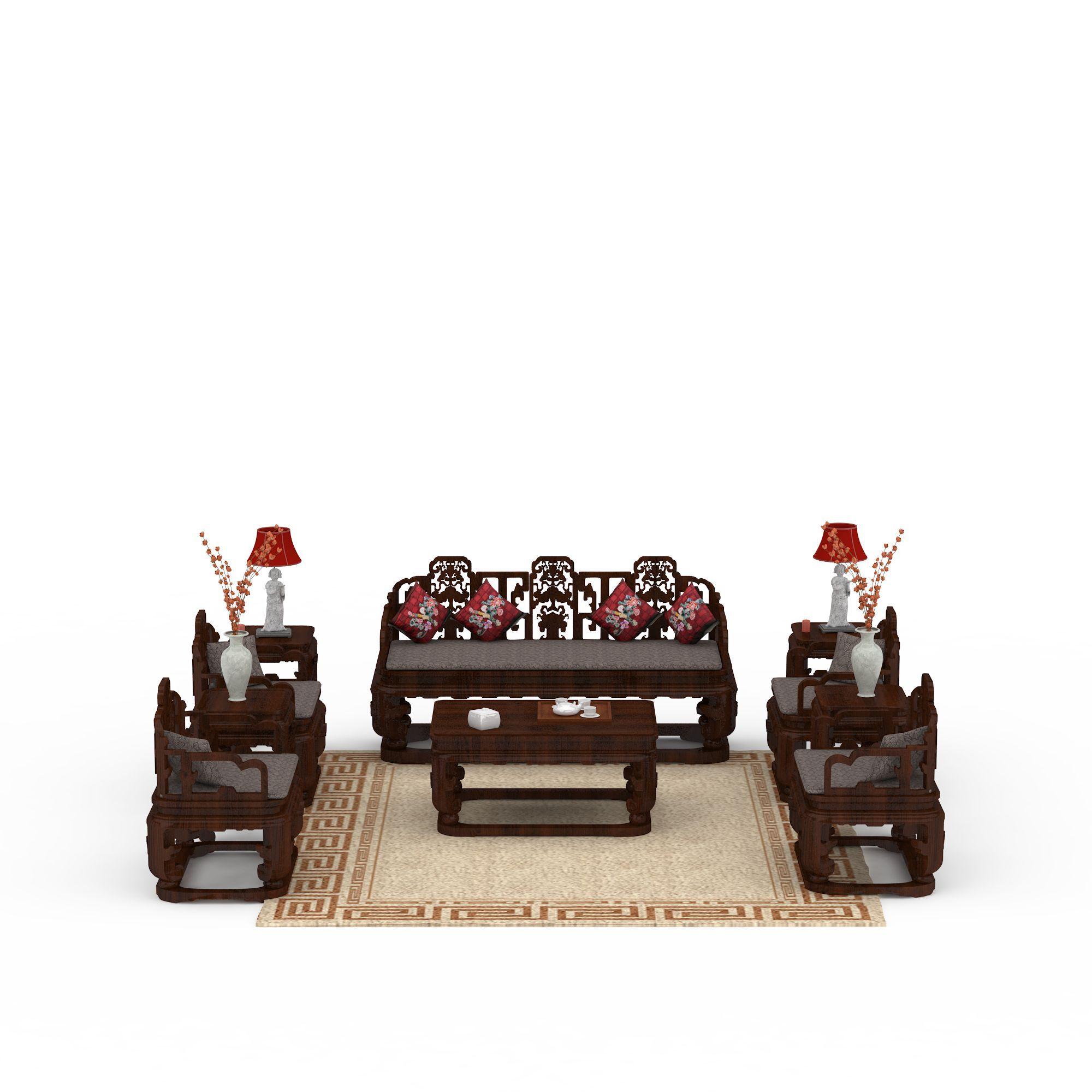 中式沙发图片_中式沙发png图片素材_中式沙发png高清