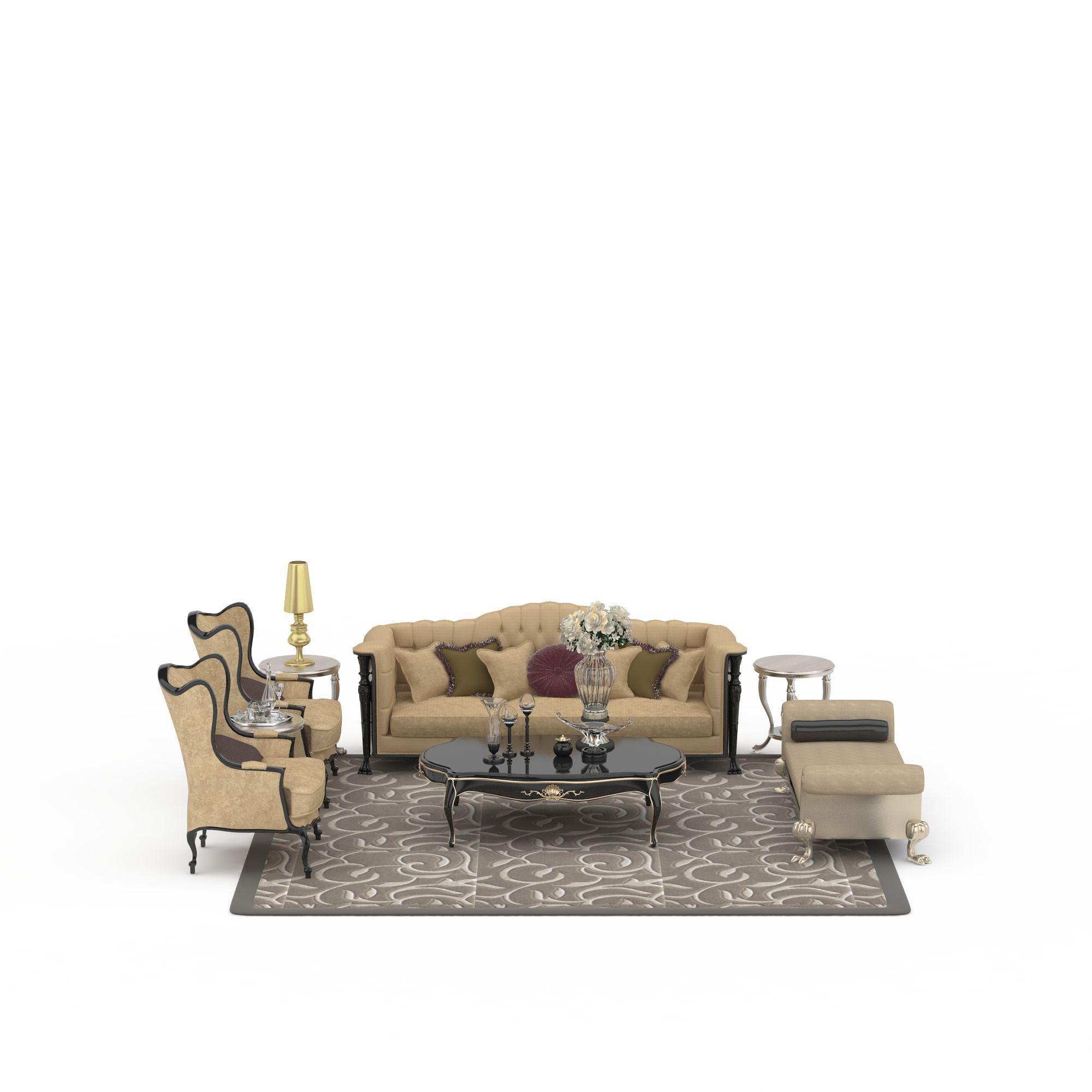 欧式风格沙发组合图片_欧式风格沙发组合png图片素材