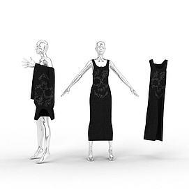 3d女装<font class='myIsRed'>模特</font>架模型