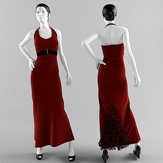 时尚女装模特3d模型