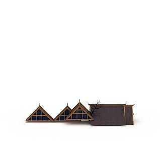 特色建筑屋顶3d模型3d模型