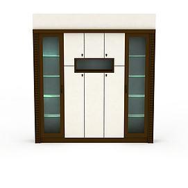 3d双开门柜子模型