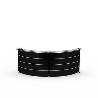 弧形接待台3d模型