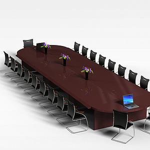 3d<font class='myIsRed'>辦公家具</font>會議桌模型
