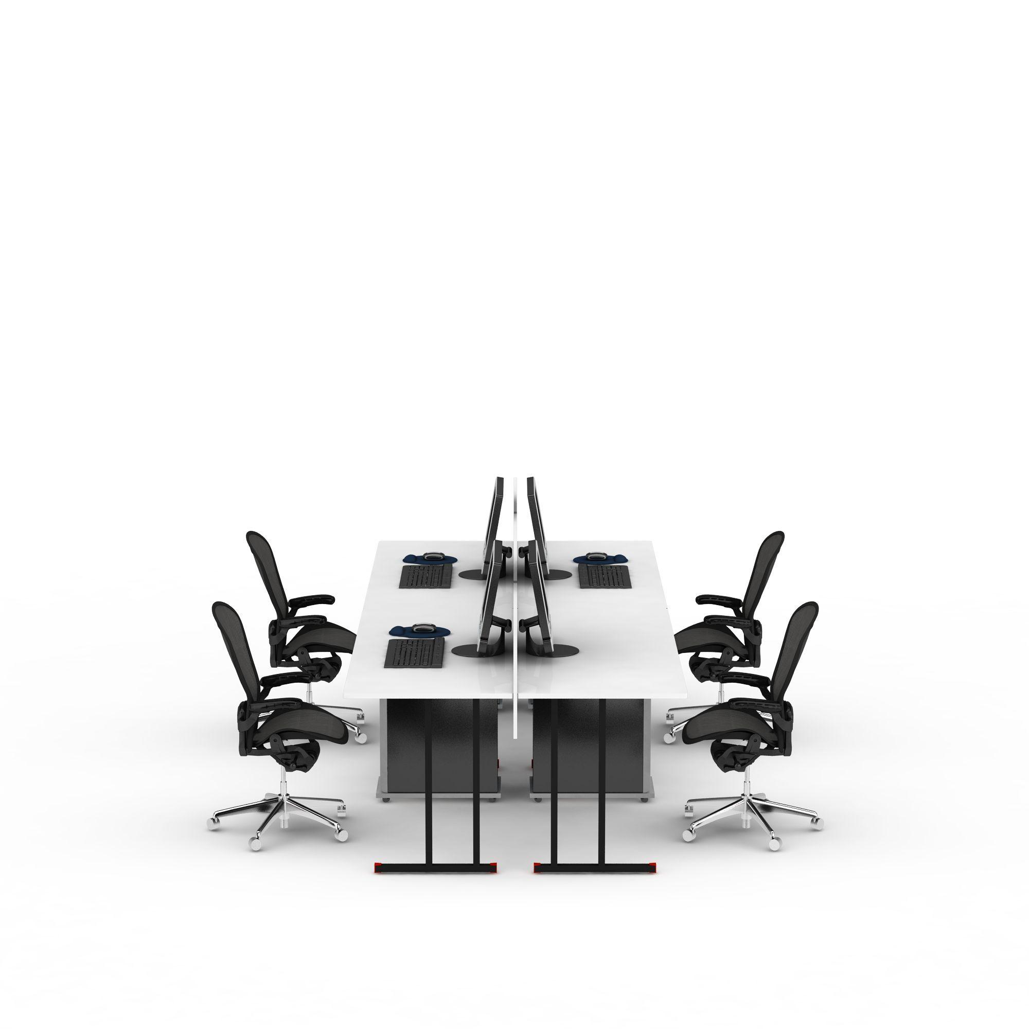 办公室电脑桌椅组合图片
