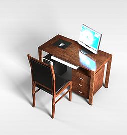 实木<font class='myIsRed'>办公桌</font>3d模型