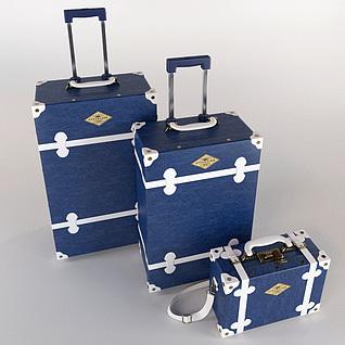 行李箱组合3d模型