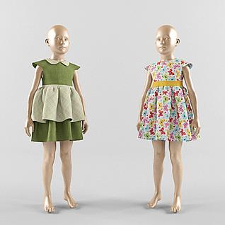 童装模特3d模型