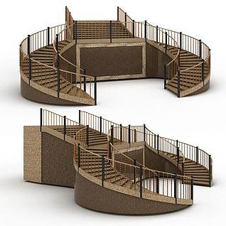创意楼梯3d模型