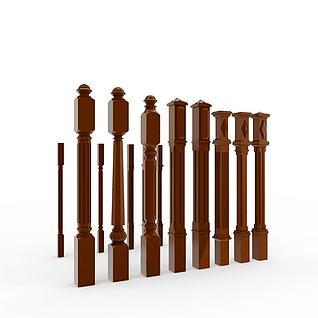 各种样式栏杆3d模型
